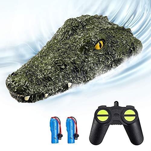 EACHINE EB01 RC Boot Kinder 2.4G Ferngesteuertes Boot Spielzeugimitat Krokodilkopf Wasserdicht Parodie...