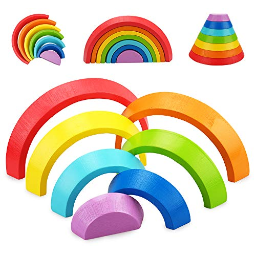 Spielzeug Geschenke für Mädchen Jungen Kinder Alter 1 2 3 Jahre Kleinkind 12 18 24 Monate Holzbausteine...