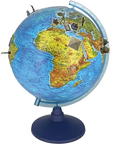 alldoro 68610 3D Lexi Globus Ø 32 cm mit Smartphone IQ Globe App, Leuchtglobus mit LED Lampe ohne Kabel,...