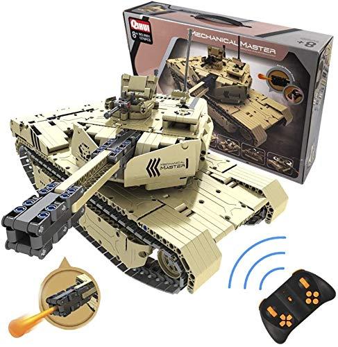 s-idee® 9801 RC Militär Bausteinpanzer mit Fernsteuerung Qihui RC Panzer ferngesteuert mit...