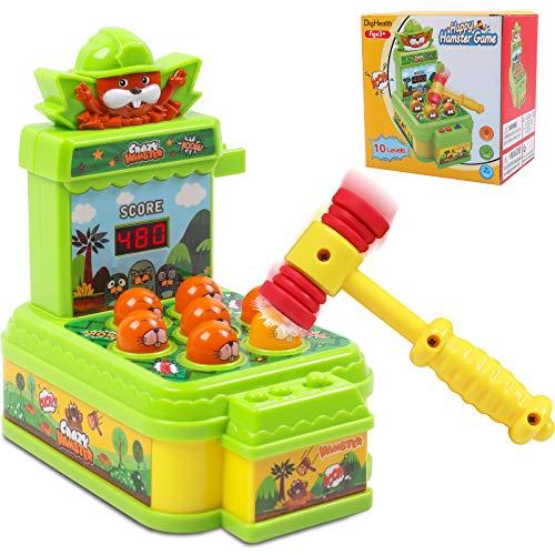 DigHealth Whac-A-Mole-Spiel, Schlag den Maulwurf Hammerspiel Spielzeug,Montessori Spielzeug für...