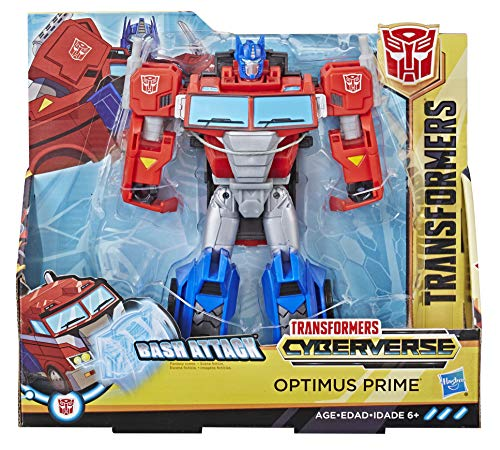 Transformers Spielzeuge Cyberverse Action Attackers Ultra-Klasse Optimus Prime Action-Figur –...