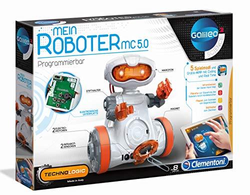 Clementoni 59158 Galileo Science – Mein Roboter MC 5.0, Robotik für kleine Ingenieure, High-Tech für...