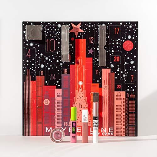 Maybelline New York Adventskalender mit Kosmetik hinter 24 Türchen, Beauty Adventskalender 2020 mit...