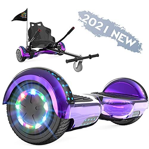 FUNDOT Hoverboards mit Sitz, Hoverboards mit Hoverkart, Go Kart 6,5 Zoll, Hoverboards mit schönen...