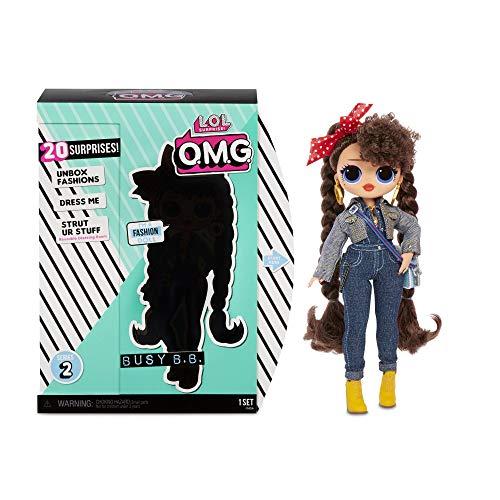 L.O.L. Surprise! 565116E7C O.M.G. Fashion Doll Busy B.B. Series 2, Ankleide- und Sammelpuppe mit Haaren...