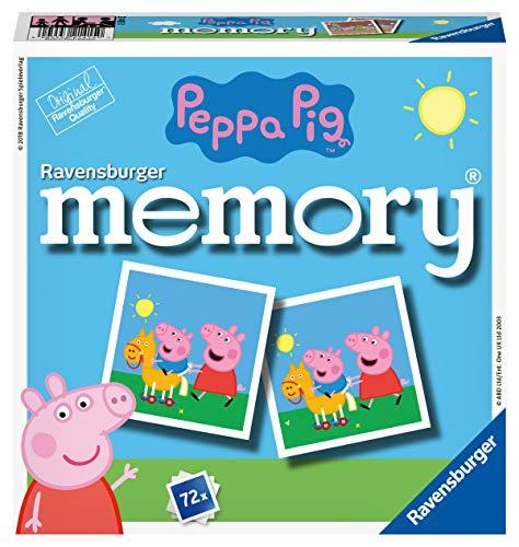 Ravensburger 21415 - Peppa Pig Memory, der Spieleklassiker für alle Fans der TV-Serie Peppa Pig,...