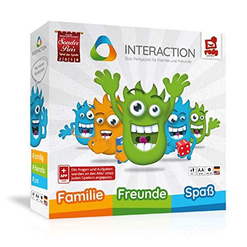 INTERACTION 2019 von Rudy Games - Interaktiver Brettspiel Spaß mit App und Malstift, Für Kinder und...