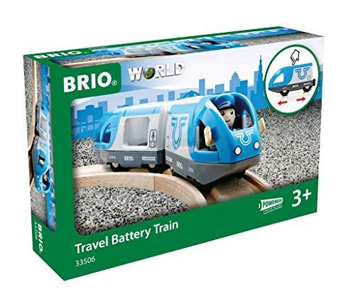 BRIO Bahn 33506 - Blauer Reisezug (Batteriebetrieb)