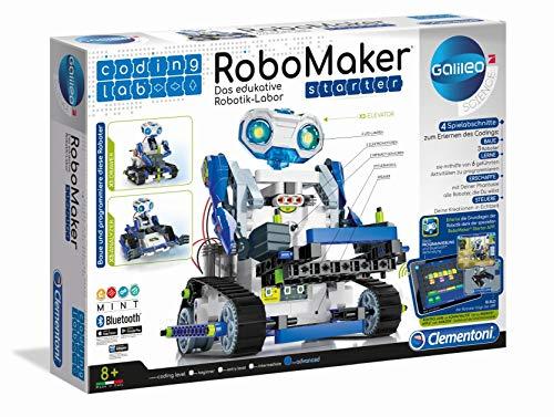 Clementoni 52397 59122 Galileo Science – Coding Lab RoboMaker Starter, edukatives Robotik-Labor,...