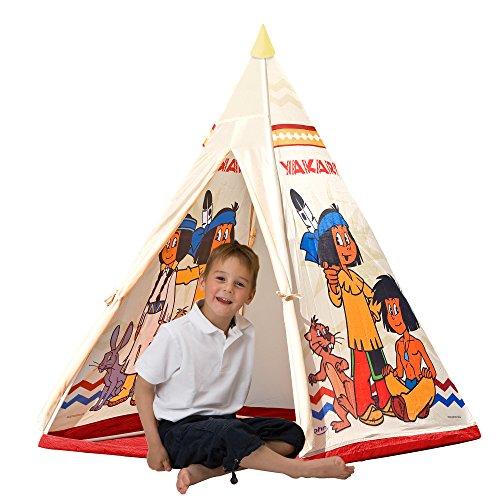 John 78607 - Yakari Tipi Zelt - Indianerzelt, Wigwam, Spielzelt, Kinderzelt, Spielhaus mit gedrucktem...