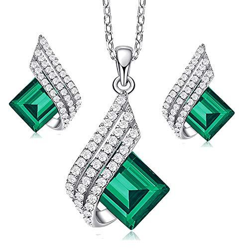 Schmuckset Damen Halskette Frauen S925 Sterling Silber Kette Anhänger Damen Schmuck Mit Diamanten...