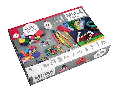 Rayher 69082000 Basic Bastelset, 1200 Teile inkl. Bastelkleber, für Kinder, Kreativset im Vorteilspack,...