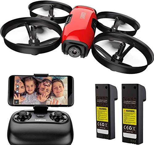 SANROCK U61W Drohne für Kinder, RC Quadcopter mit HD WiFi FPV Kamera, Unterstützt Höhe halten,...