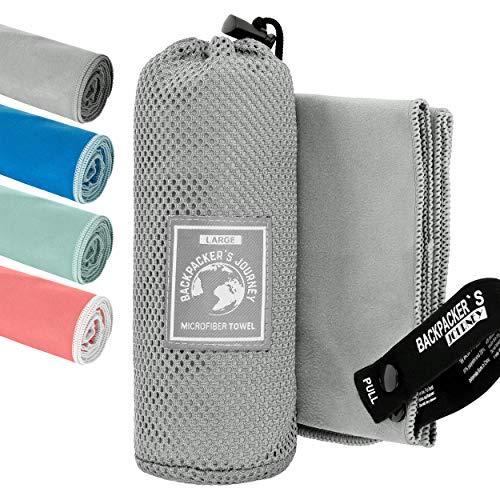 Backpacker's Journey Mikrofaser Handtücher in S M L XL. Reisehandtuch Sets leicht, schnelltrocknend,...