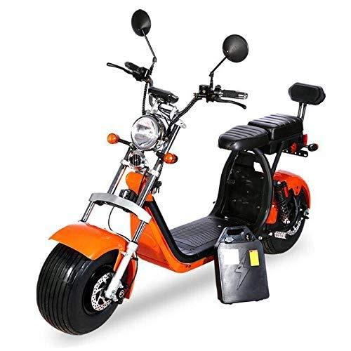 Coco Bike Fat E-Scooter mit Straßenzulassung bis zu 40 km/h schnell - 35km Reichweite, 60V   1500W  ...