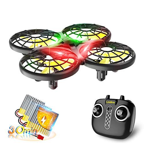 Loolinn | Drohne für Kinder - Mini Drohne, RC Quadrocopter mit Antikollisionstechnologie / 360° Flips /...