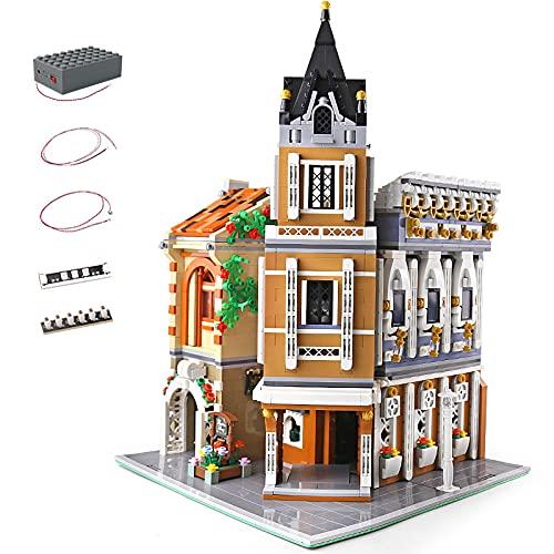 KEAYO Bausteine Haus, Mould King 16026, 3039 Teile Groß Modular Teehaus Modellbausatz mit Beleuchtung,...