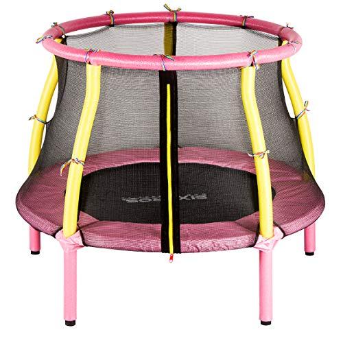 SixBros. SixJump Kindertrampolin für den Garten und Indoor, Gartentrampolin 1,22m inkl. Sicherheitsnetz,...