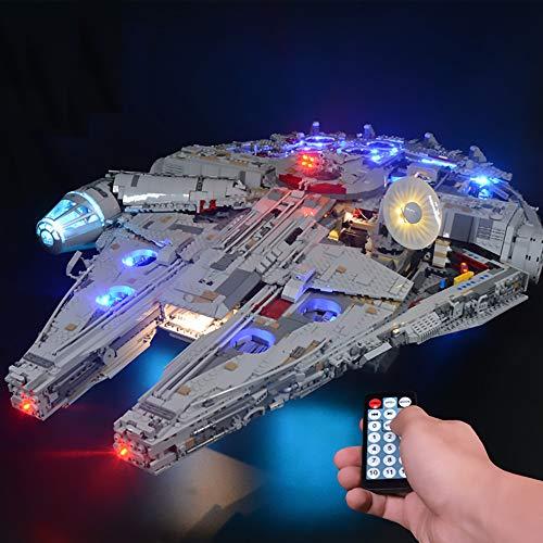 LODIY Upgrade Beleuchtung Lichtset für Lego 75192 Millennium Falcon , LED Beleuchtungsset Kompatibel mit...