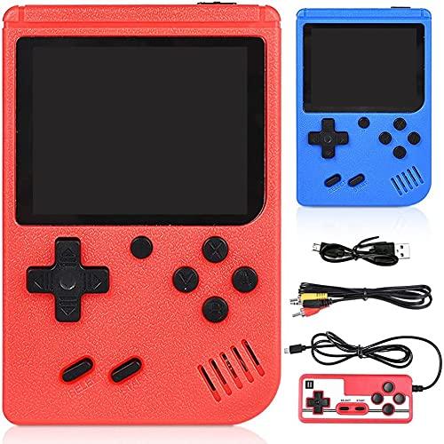 GOLDGE Handheld Spielekonsole 400 Klassische Spiele Videospielkonsole Unterstützt Anschließen an TV...