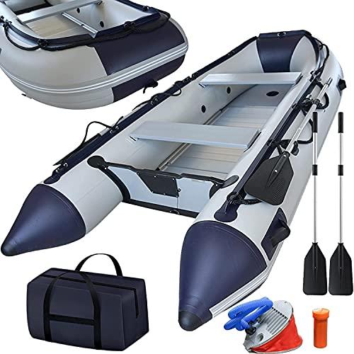 Schlauchboot 3,30 m für 5+1 Personen - 330 x 155 cm, max 566 kg, bis 15 PS, Alupaddel, Aluboden,...