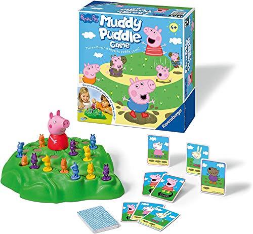 Ravensburger Peppa Pig Muddy Pfützen Spiel für Kinder ab 4 Jahren – Spaß und schnelle...