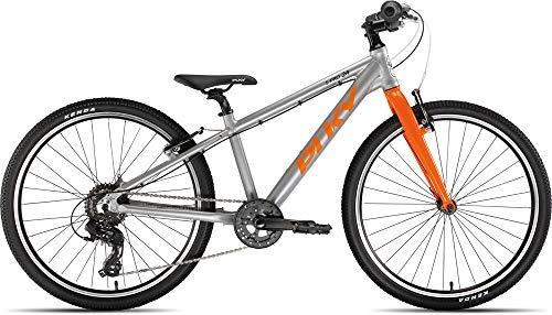 Puky LS-Pro 24-8 Alu Kinder Fahrrad silberfarben/orange