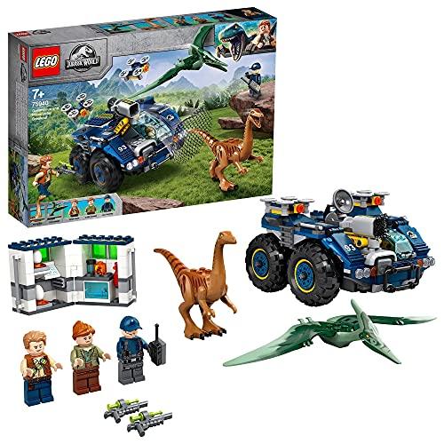 LEGO 75940 Jurassic World Ausbruch von Gallimimus und Pteranodon, Dinosaurier Spielzeug für Kinder ab 7...