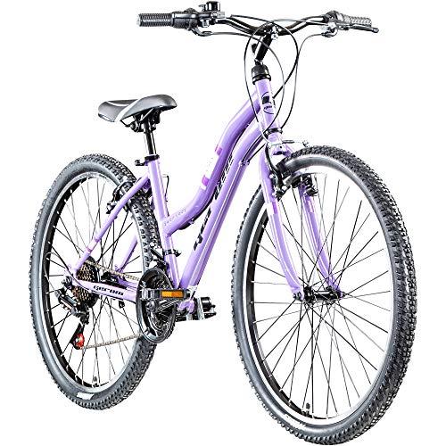Damenfahrrad 26 Zoll Mädchen Fahrrad Damenrad Mountainbike Geroni Swan Lady MTB (lila)