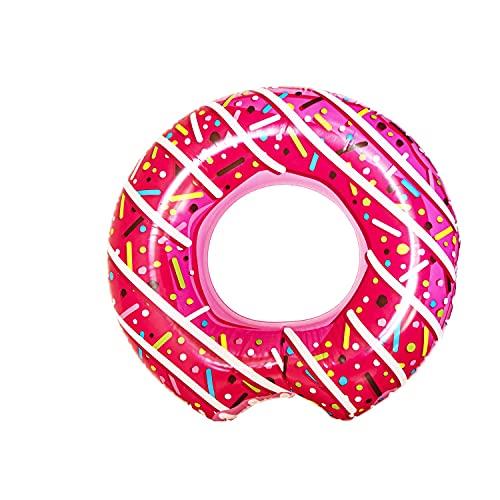 L + H WORLD XXL aufblasbarer Donut Schwimmring Pink in Premium Qualität | Schwimmreifen Schwimmring...