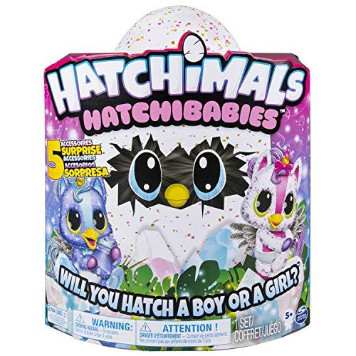 Hatchimals 6046468 - HatchiBabies Unikeet, Ei mit Baby-Hatchimal und interaktiven Accessoires