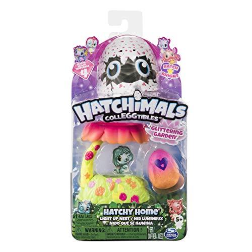 Hatchimals 6044124 - CollEGGtibles Light Up Nest Garden Spielset