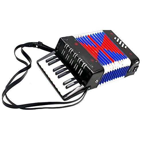 Dilwe Akkordeon für Kinder, 17 Key 8 Bass Mini Akkordeon pädagogische Musik Spielzeug...