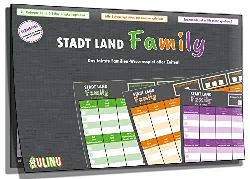 Gesellschaftsspiel - Stadt, Land, Family - Das fairste Familienspiel Aller Zeiten - Stadt-Land-Fluss...