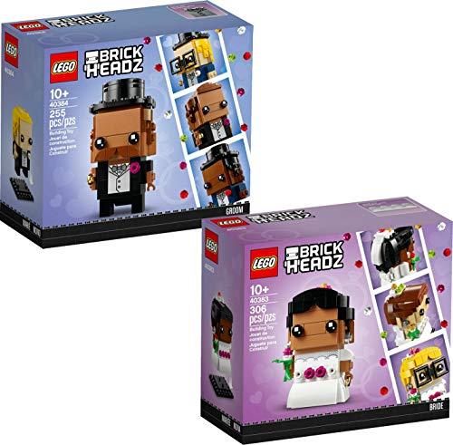 Brickheadz 40384 Bräutigam Groom und 40383 Braut Bride NEU 2020