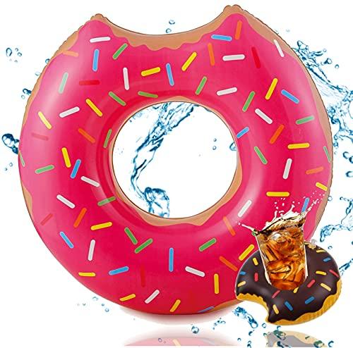 Aufblasbar angebissener Donut Ø 120 cm Schwimmring Schwimmreifen Luftmatratze Schwimmkissen für Pool &...