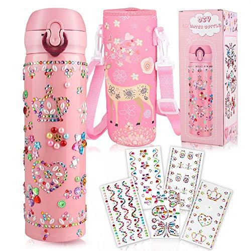 Yojoloin Trinkflasche Kinder,Wasserflasche Basteln 5-10 Jahre,Geschenk für Mädchen Geburtstagsgeschenk...