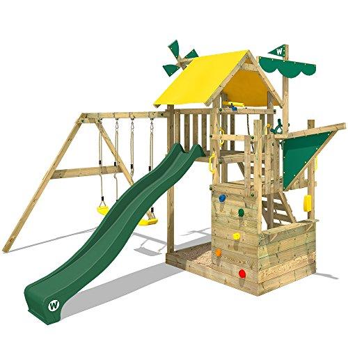 WICKEY Kletterturm Smart Sail Spielturm Klettergerüst mit verschiedenen Podesthöhen, Kletterwand,...