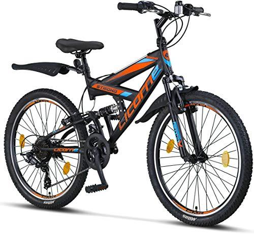 Licorne Bike Strong V Premium Mountainbike in 24 Zoll - Fahrrad für Jungen, Mädchen, Damen und Herren -...