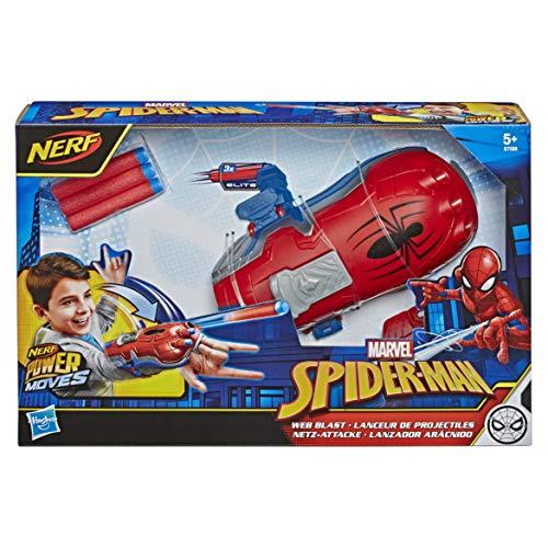 Hasbro E7328EU4 Nerf Power Moves Marvel Spider-Man Netz-Attacke, NERF Dart-Abschuss Spielzeug für...