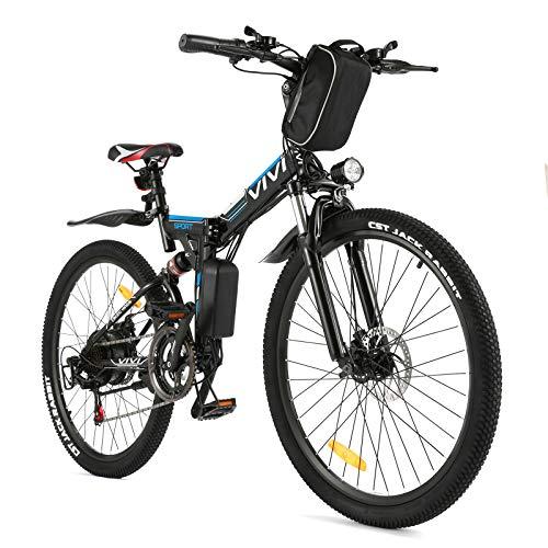 Vivi Ebike E-Mountainbike 26' Elektrofahrrad 350W Ebike Klapprad, E-Bike Herren und Damen mit...