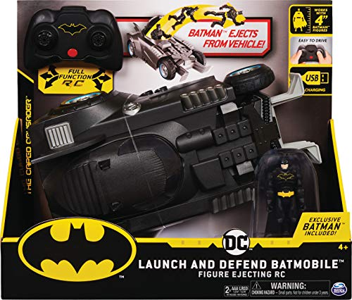 Batman ferngesteuertes Batmobil mit Schleuderfunktion und exklusiver 10cm großer Batman Action-Figur