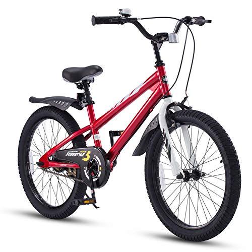 RoyalBaby Kinderfahrrad Jungen Mädchen Freestyle BMX Fahrrad Stützräder Laufrad Kinder Fahrrad 18 Zoll...