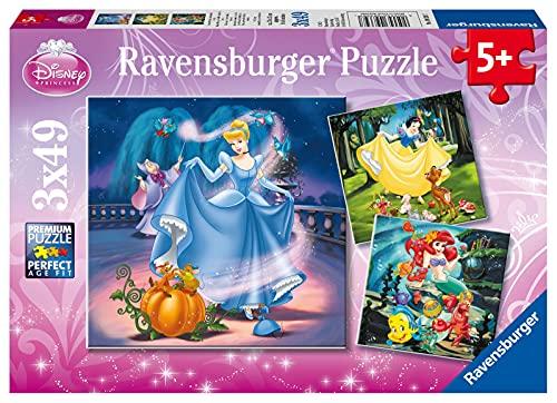 Ravensburger Kinderpuzzle - 09339 Schneewittchen, Aschenputtel, Arielle - Puzzle für Kinder ab 5 Jahren,...