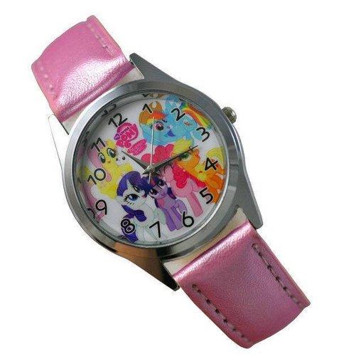 Procuffs Kinder Uhr Analog Quarzwerk mit Leder Disney My Little Pony E1 Rosa Runden