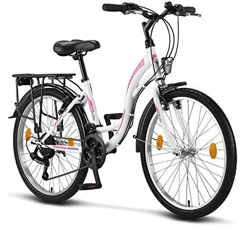 Licorne Bike Stella Premium City Bike in 24 Zoll - Fahrrad für Mädchen, Jungen, Herren und Damen - 21...