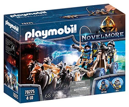 PLAYMOBIL Novelmore 70225 Wolfsgespann und Wasserkanone, Für Kinder von 5-10 Jahren