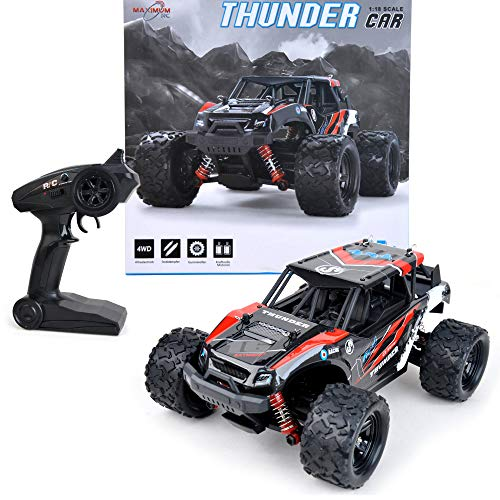 FunTomia Maximum RC Monster Truck - 4WD Thunder Car 36km/h ferngesteuertes Auto - Ersatzteile (1x Monster...