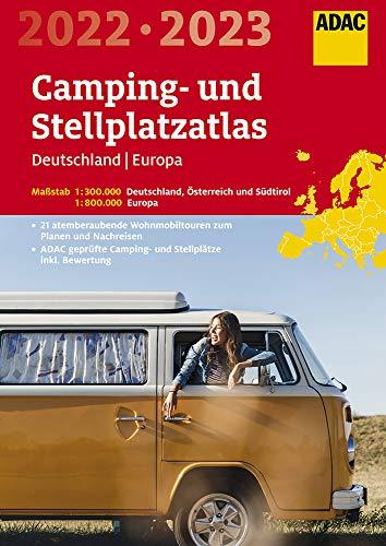 ADAC Camping- und StellplatzAtlas2022/23 Deutschland 1:300 000, Europa 1:800 000: Österreich und...